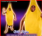 FANCY DRESS COSTUME - FUN UNISEX ADULT BANANA MED/LG